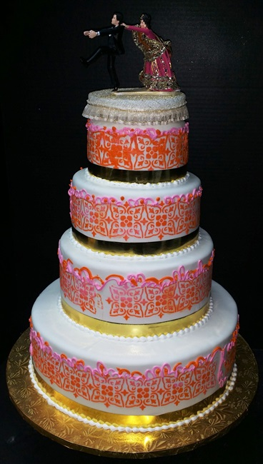 3 Tier Fall Style Custom Wedding Cake Also Available In Gluten Free Cakes Long Island
